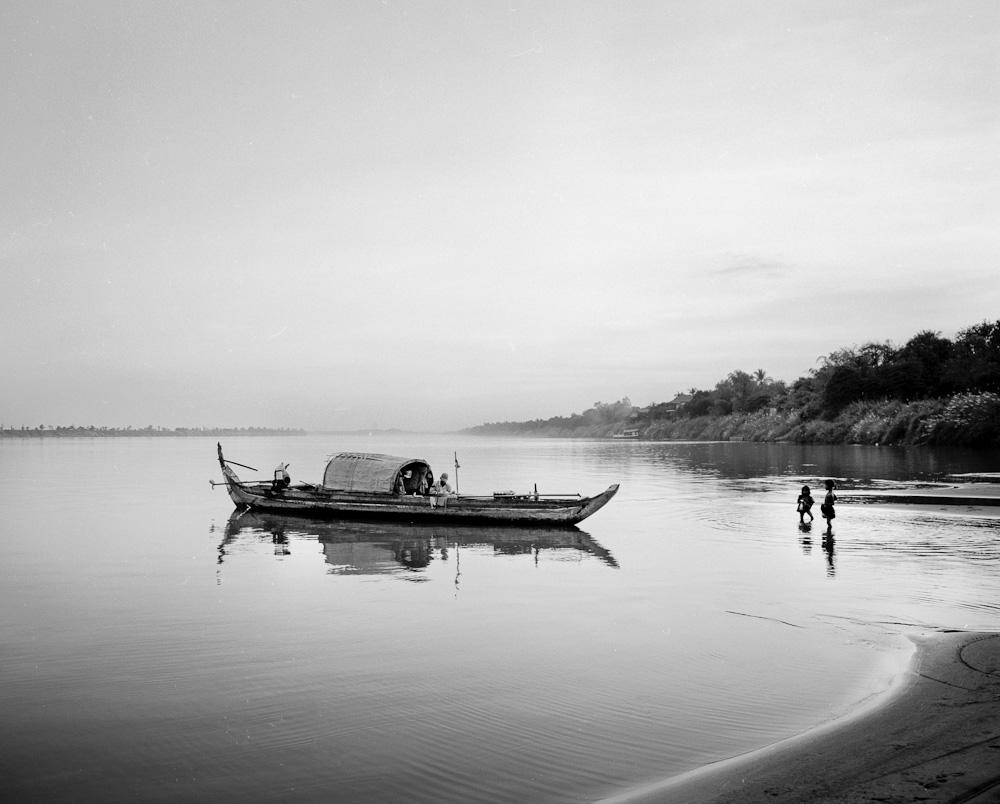 mekong 3 Koh Dach : la jonque sur le Mékong photos argentique analog