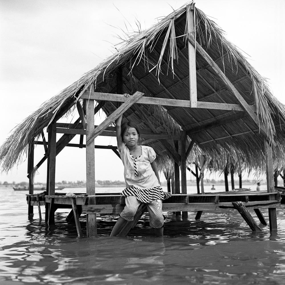 Cambodge 3 Koh Dach : la paillote  portraits argentique analog