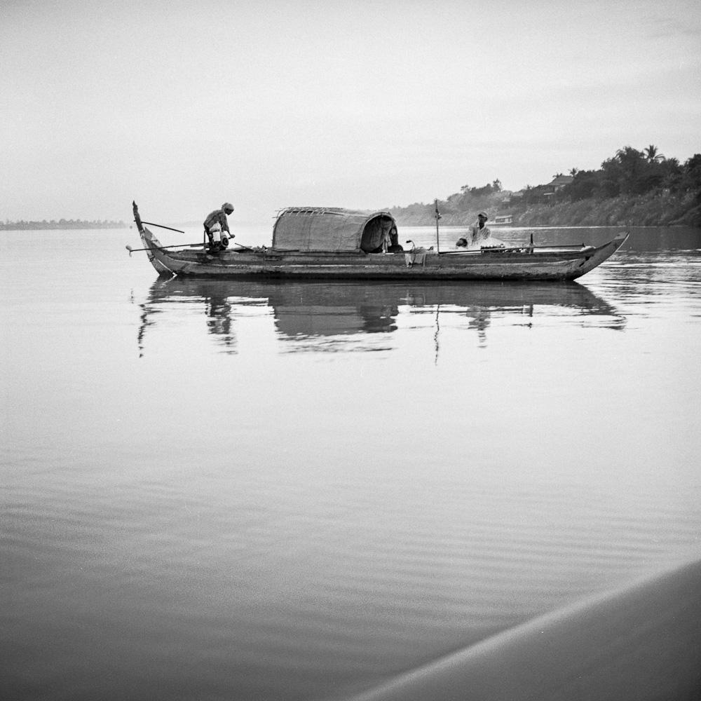 mekong 5 Koh Dach : la jonque sur le Mékong photos argentique analog
